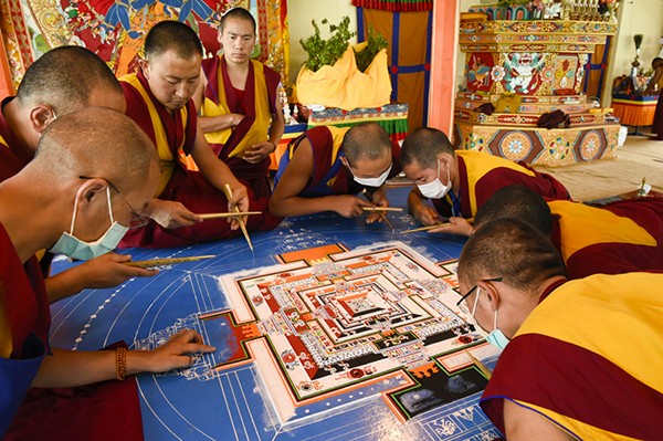 33rd Kalackakra by His Holiness the 14. Dalai Lama, Ladakh, J&K,