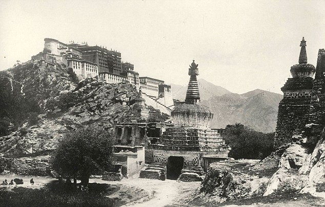 The old picture of Potala Palace dated in 1903-1904