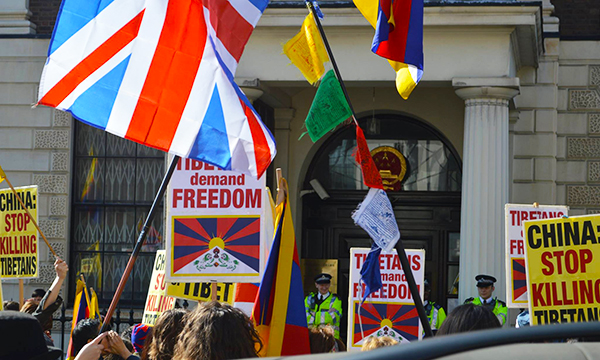 tibetan_Community_UK_London_Protest-3
